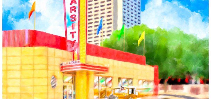 Local Atlanta Art - Painting Of The Varsity