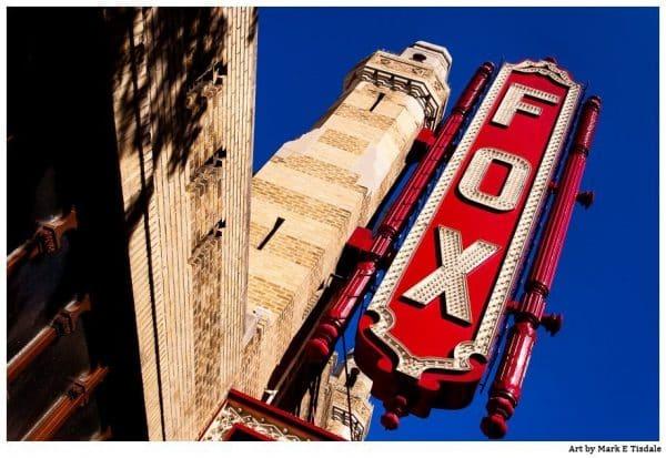 Atlanta Fox Theatre - Atlanta Landmark Print by Mark Tisdale