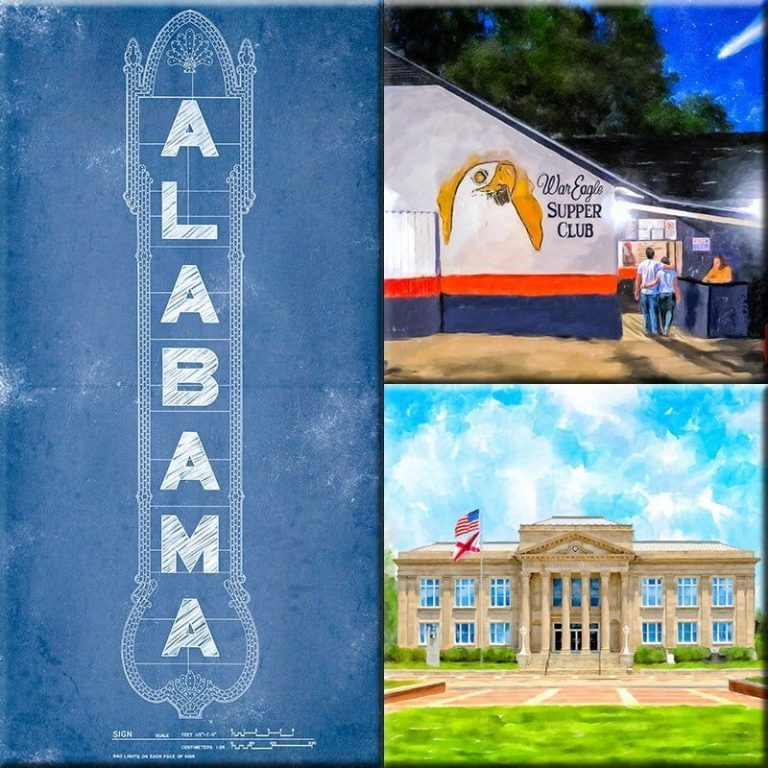 Alabama Print Collection by Artist Mark Tisdale