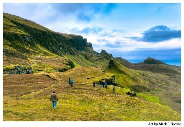 Art print of an amazing Scottish highland landscape on the Isle of Skye