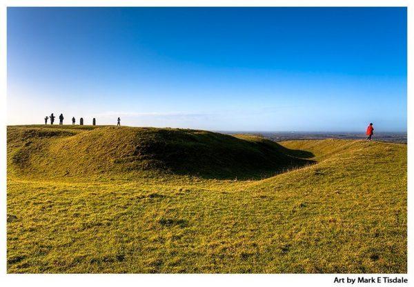 Art print of the Ancient HIlls of Tara - Ireland in the sunlight