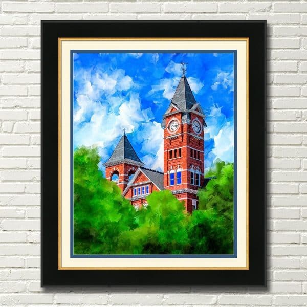 Auburn University Samford Hall Framed Wall Art