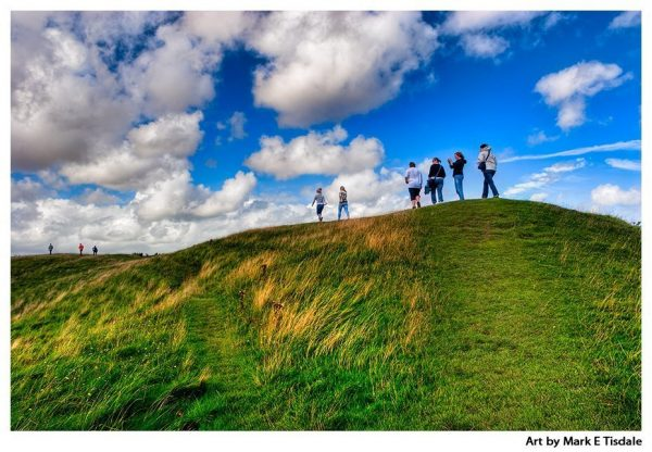 Avebury Circle Print by Mark Tisdale - the great earthen bank that surrounds the Neolithic monument