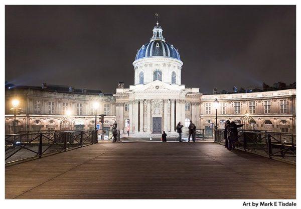 Baroque grandeur of Paris - Institut de France Print by Mark Tisdale