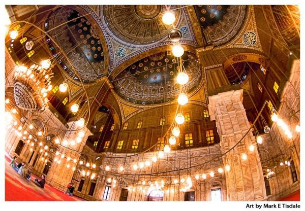 Egyptian Mosque Ceiling - Mosque of Muhammad Ali in Cairo - Print by Mark Tisdale