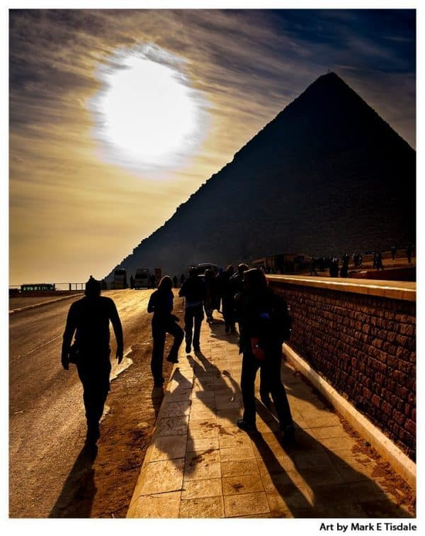 Largest of The Egyptian Pyramids - Print by Mark Tisdale