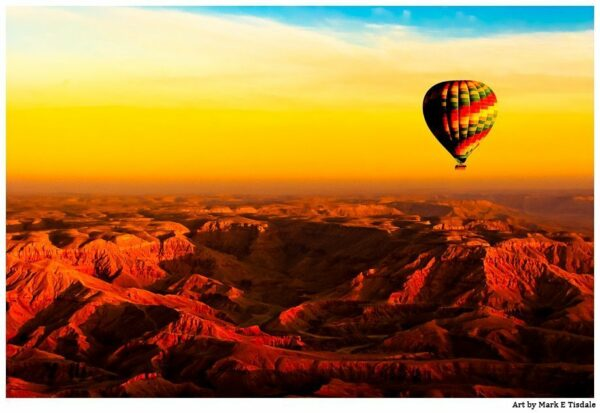Egyptian Sunrise over the Famous Valley Of the Kings - Print by Mark Tisdale