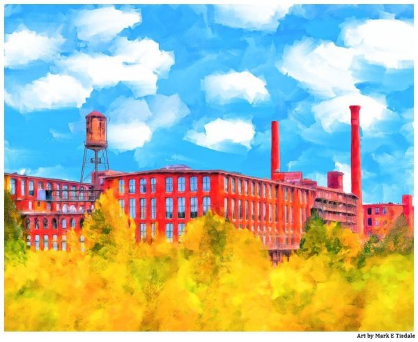 Fulton Cotton Mill Lofts - Historic Atlanta Art Print by Georgia artist Mark Tisdale