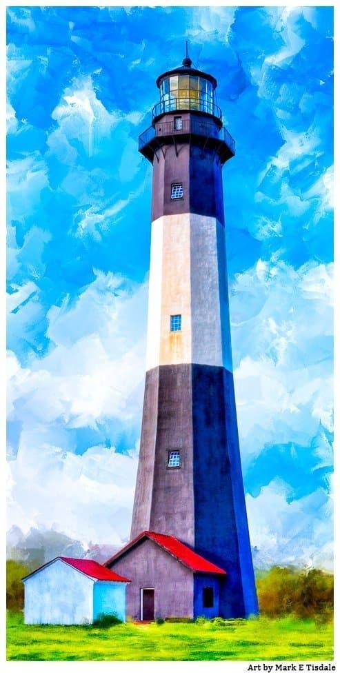 Historic Tybee Lighthouse Art Print by Georgia artist Mark Tisdale
