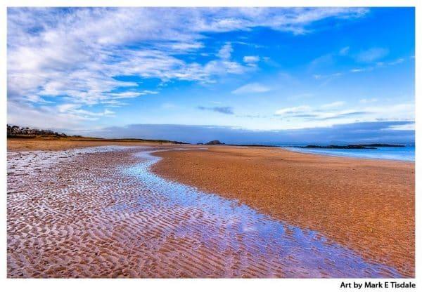 North Berwick Beach Print by Mark Tisdale - Scotland on the Coast