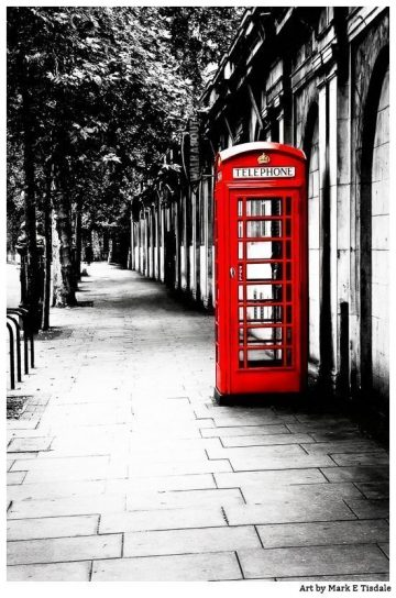 Red Telephone Booth - Classic London artwork by Mark Tisdale